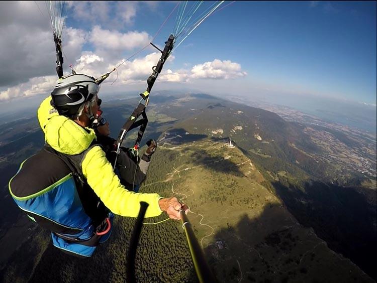 Vol Découverte en Biplace Parapente au dessus du Petit Mont Rond